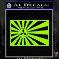 Mitsubishi Rising Sun Decal Sticker Lime Green Vinyl 120x120
