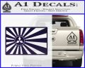 Mitsubishi Rising Sun Decal Sticker PurpleEmblem Logo 120x97