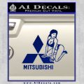 Mitsubishi Sexy Decal Sticker D1 Blue Vinyl 120x120