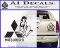 Mitsubishi Sexy Decal Sticker D1 Carbon FIber Black Vinyl 120x97