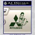 Mitsubishi Sexy Decal Sticker D1 Dark Green Vinyl 120x120