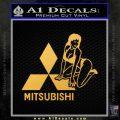 Mitsubishi Sexy Decal Sticker D1 Gold Vinyl 120x120