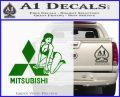 Mitsubishi Sexy Decal Sticker D1 Green Vinyl Logo 120x97