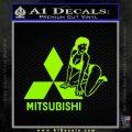 Mitsubishi Sexy Decal Sticker D1 Lime Green Vinyl 120x120
