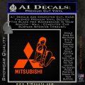 Mitsubishi Sexy Decal Sticker D1 Orange Emblem 120x120