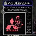 Mitsubishi Sexy Decal Sticker D1 Pink Emblem 120x120