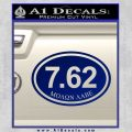 Molon Labe Oval 7.62 Decal Sticker Blue Vinyl 120x120