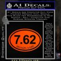 Molon Labe Oval 7.62 Decal Sticker Orange Emblem 120x120