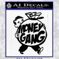 Money Gang Decal Sticker Black Vinyl 120x120