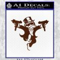 Monopoly Man Stickup Uzis Decal Sticker BROWN Vinyl 120x120