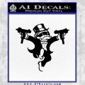 Monopoly Man Stickup Uzis Decal Sticker Black Vinyl 120x120