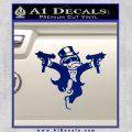 Monopoly Man Stickup Uzis Decal Sticker Blue Vinyl 120x120