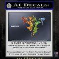 Monopoly Man Stickup Uzis Decal Sticker Glitter Sparkle 120x120