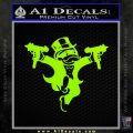 Monopoly Man Stickup Uzis Decal Sticker Lime Green Vinyl 120x120