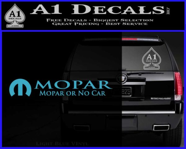 Mopar Or No Car Decal Sticker 187 A1 Decals