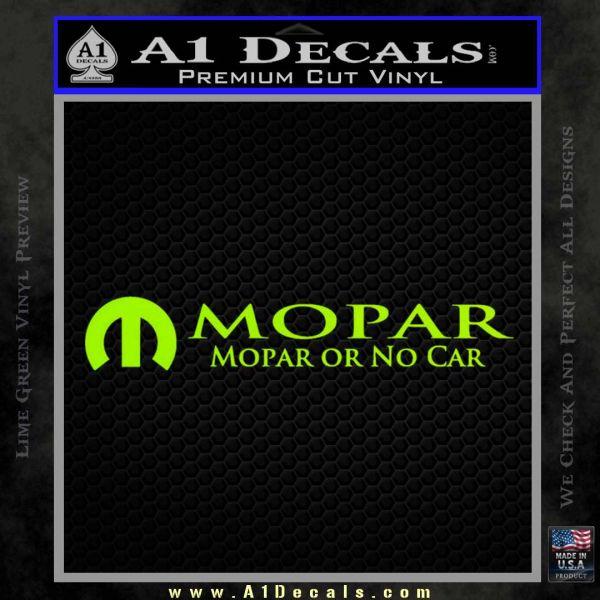 Mopar Or No Car Decal Sticker 187 A1 Decals