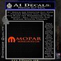 Mopar Or No Car Decal Sticker Orange Emblem 120x120