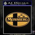 Mossberg Decal Sticker D1 Gold Vinyl 120x120