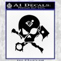Motorsports Pirate D1 Decal Sticker Black Vinyl 120x120
