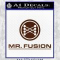 Mr Fusion Back To The Future Decal Sticker BROWN Vinyl 120x120