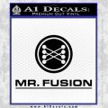 Mr Fusion Back To The Future Decal Sticker Black Vinyl 120x120