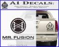 Mr Fusion Back To The Future Decal Sticker Carbon FIber Black Vinyl 120x97