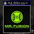 Mr Fusion Back To The Future Decal Sticker Lime Green Vinyl 120x120
