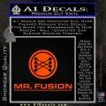 Mr Fusion Back To The Future Decal Sticker Orange Emblem 120x120