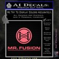 Mr Fusion Back To The Future Decal Sticker Pink Emblem 120x120