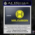Mr Fusion Back To The Future Decal Sticker Yellow Laptop 120x120