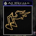 Musical Note Wings Decal Sticker Gold Vinyl 120x120