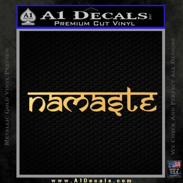 Namaste D2 Decal Sticker Gold Vinyl