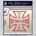 National Guard Iron Cross Decal Sticker Red 120x120