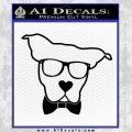 Nerd Dog geek Decal Sticker Black Vinyl 120x120
