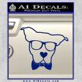 Nerd Dog geek Decal Sticker Blue Vinyl 120x120