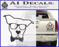 Nerd Dog geek Decal Sticker Carbon FIber Black Vinyl 120x97