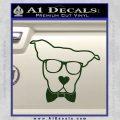 Nerd Dog geek Decal Sticker Dark Green Vinyl 120x120