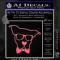 Nerd Dog geek Decal Sticker Pink Emblem 120x120