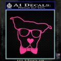 Nerd Dog geek Decal Sticker Pink Hot Vinyl 120x120