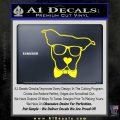Nerd Dog geek Decal Sticker Yellow Laptop 120x120