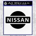 Nissan Logo Emblem Decal Sticker Black Vinyl 120x120