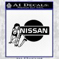 Nissan Sexy Decal Sticker D1 Black Vinyl 120x120