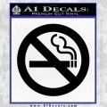 No Smoking Decal Sticker Black Vinyl 120x120