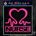 Nurse Heart Decal Sticker Pink Hot Vinyl 120x120
