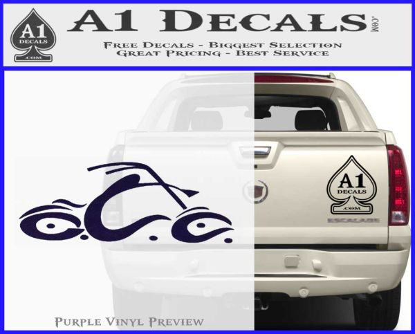 Occ orange county choppers decal sticker purpleemblem logo 120x97