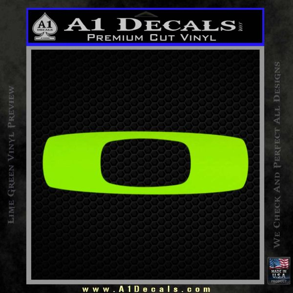 Oakley decal sticker d8 lime green vinyl