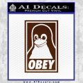 Obey Linux B Decal Sticker BROWN Vinyl 120x120