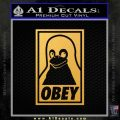 Obey Linux B Decal Sticker Gold Vinyl 120x120