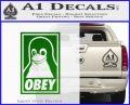 Obey Linux B Decal Sticker Green Vinyl Logo 120x97