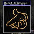 Old School Hand Guns Decal Sticker Gold Vinyl 120x120
